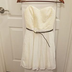 Strapless Ivory Summer Dress